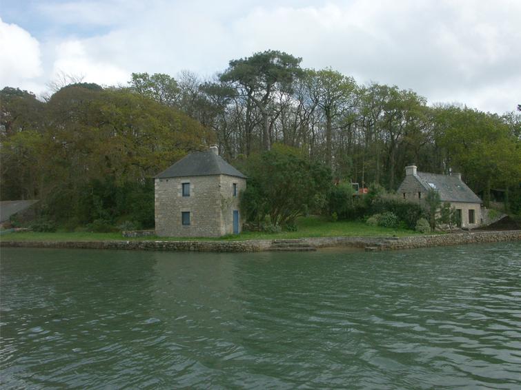 Maison sur la rivière de Crach